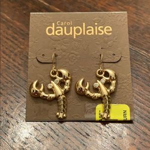 Carol Dauplaise Gold🦞Lobster🦞 Earrings NWT